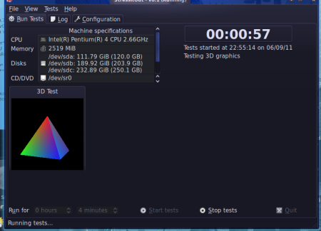 StressItOut v0.0.013, OpenGL 3D test